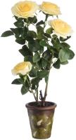Искусственное растение Вещицы Желтая Роза В640 / YW-42 -