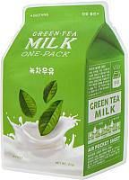 Маска для лица тканевая A'Pieu Green Tea Milk One-Pack (21г) -