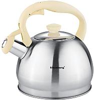 Чайник со свистком Klausberg KB-7043 (бежевый) -