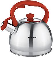 Чайник со свистком Klausberg KB-7043 (красный) -