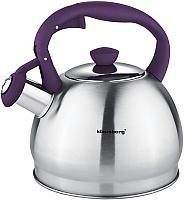 Чайник со свистком Klausberg KB-7043 (фиолетовый) -