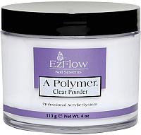 Акриловая пудра для ногтей EzFlow A-Polymer Clear Acrylic Powder (113г) -
