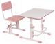 Парта+стул Polini Kids Simple / 0002441.69 (белый/розовый) -