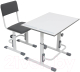 Парта+стул Polini Kids Simple / 0002441.55 (белый/серый) -