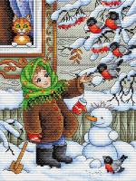 Набор для вышивания М.П.Студия Зимняя прогулка / М-320М -