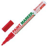 Маркер строительный Brauberg Professional / 150865 (красный) -