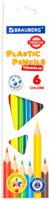 Набор цветных карандашей Brauberg Premium / 181660 (6цв) -