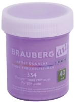 Гуашь Brauberg Art Classic / 191576 (фиолетовый светлый) -