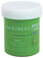 Гуашь Brauberg Art Classic / 191579 (зеленая средняя) -