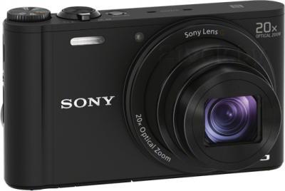 Компактный фотоаппарат Sony Cyber-shot DSC-WX350 (черный) - общий вид