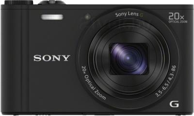 Компактный фотоаппарат Sony Cyber-shot DSC-WX350 (черный) - вид спереди