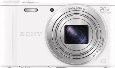 Компактный фотоаппарат Sony Cyber-shot DSC-WX350 (белый) - вид спереди