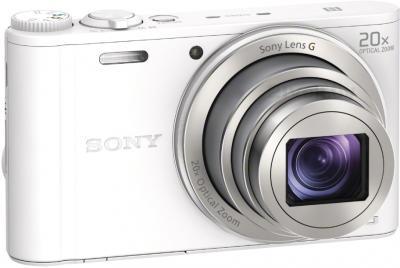 Компактный фотоаппарат Sony Cyber-shot DSC-WX350 (белый) - общий вид