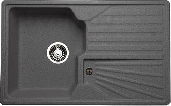 Мойка кухонная Granicom, G014-04 (серый), Россия, искусственный мрамор  - купить со скидкой
