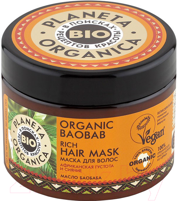Купить Маска для волос Planeta Organica, Organic Baobab густая (300мл), Россия, Organic Baobab (Planeta Organica)