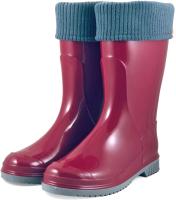Резиновые сапоги детские Alisa Line Teen 401 утепленные (р.39, бордовый) -