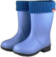 Резиновые сапоги детские Alisa Line Win 801 утепленные (р-р 34-35, голубой) -