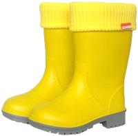 Резиновые сапоги детские Alisa Line Win 801 утепленные (р-р 32-33, желтый) -