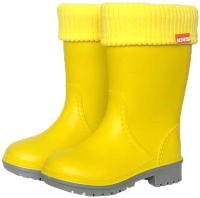 Резиновые сапоги детские Alisa Line Win 801 утепленные (р-р 34-35, желтый) -