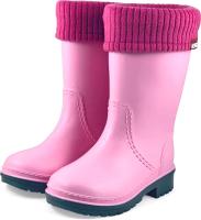 Резиновые сапоги детские Alisa Line Win 801 утепленные (р-р 34-35, розовый) -
