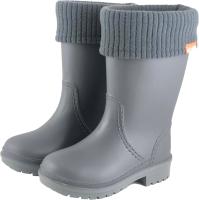 Резиновые сапоги детские Alisa Line Win 801 утепленные (р-р 34-35, серый) -