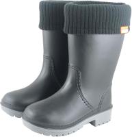 Резиновые сапоги детские Alisa Line Win 801 утепленные (р-р 36-37, черный/серый) -