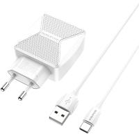 Зарядное устройство сетевое Borofone BA45A + кабель AM-Type-C / 6931474726384 (белый) -