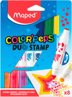 Фломастер-штамп Maped Color Peps Duo Stamps / 846808 (8шт) -