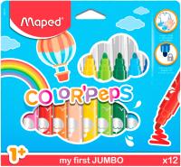 Фломастеры Maped Color Peps Jumbo / 846020 (12шт) -