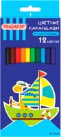 Набор цветных карандашей Пифагор Жираф / 181250 (12шт) -