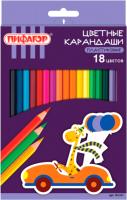 Набор цветных карандашей Пифагор Жираф / 181251 (18шт) -