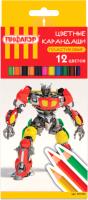 Набор цветных карандашей Пифагор Боевой Робот/ 181341 (12шт) -