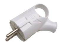 Вилка штепсельная INhome 4120 / 4690612009124 (белый) -