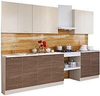 Готовая кухня Артём-Мебель Оля 2.2 ДСП (ваниль/ясень темный) -
