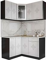 Готовая кухня Артём-Мебель Жасмин со стеклом МДФ/глянец (белый) -