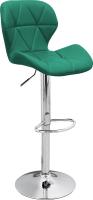 Стул барный Mio Tesoro Грация BS-035 (изумрудно-зеленый/хром) -