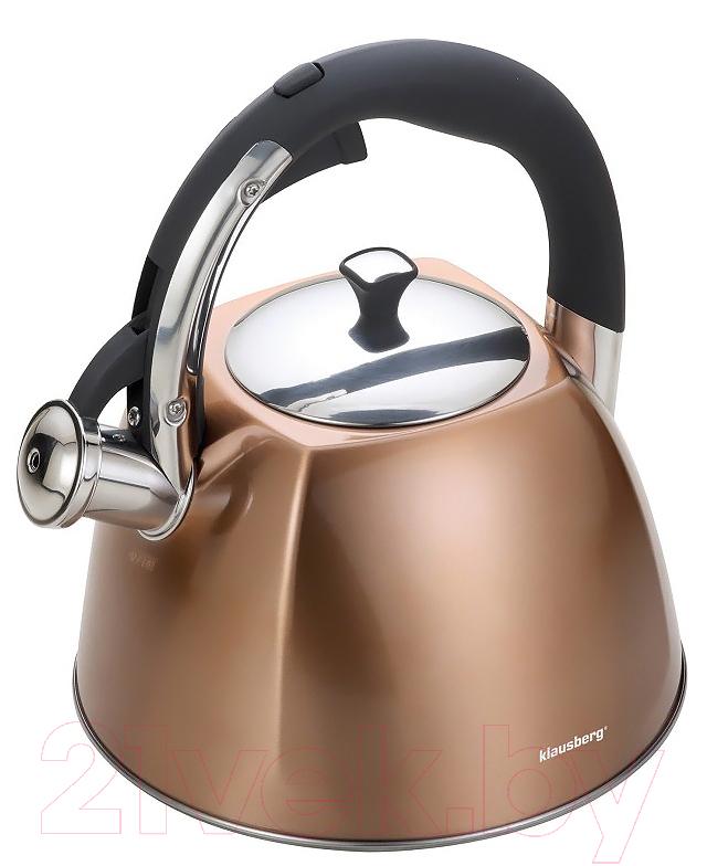 Купить Чайник со свистком Klausberg, KB-7202, Китай, нержавеющая сталь