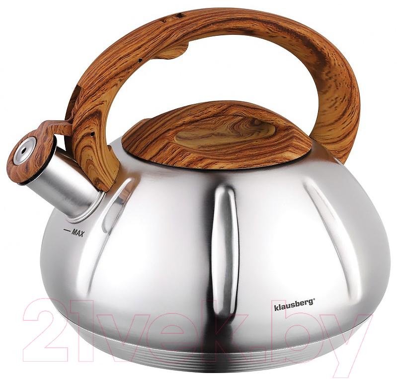 Купить Чайник со свистком Klausberg, KB-7281, Китай, нержавеющая сталь