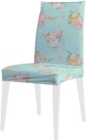 Чехол на стул JoyArty Светлые цветочные букеты / dvcc_50182 -