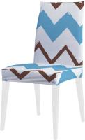 Чехол на стул JoyArty Разноцветные зигзаги / dvcc_6935 -