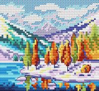 Набор для вышивания М.П.Студия Осень в горах / М-613М -