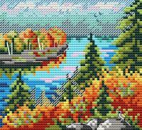 Набор для вышивания М.П.Студия Осенний лес / М-615М -