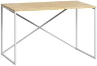 Письменный стол Loftyhome Бервин Кросс / 1264625 (натуральный с белым основанием) -