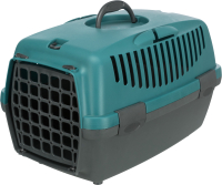 Переноска для животных Trixie Traveller Capri I 39810 (темно-серый/зеленый) -