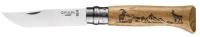 Нож туристический Opinel №8 / 002336 (нержавеющая сталь, дуб, гравировка серна) -