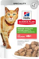 Корм для кошек Hill's Science Plan Mature Adult 7+ Senior Vitality Salmon / 605259 (85г) -