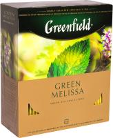Чай пакетированный GREENFIELD Green Melissa зеленый / Nd-00001842 (100пак) -