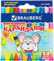 Восковые мелки Brauberg 222962 (12цв) -