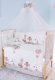 Комплект в кроватку Баю-Бай Раздолье К120-Р1 (розовый) -