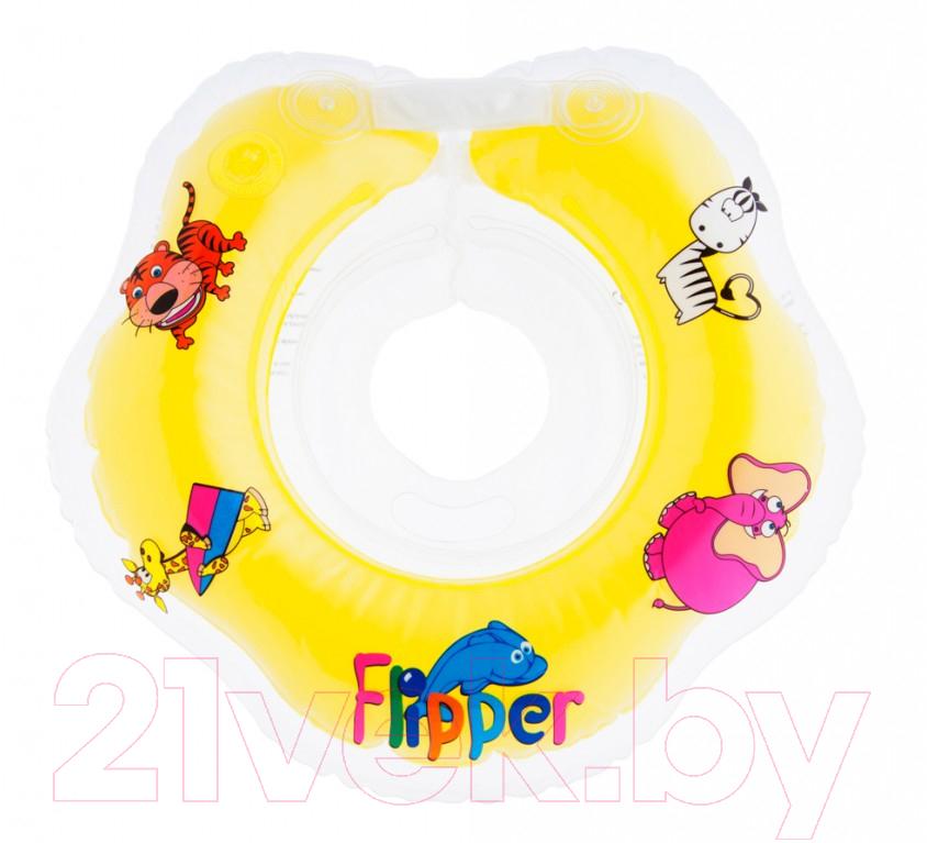 Купить Круг для купания Roxy-Kids, Flipper FL001 (желтый), Китай